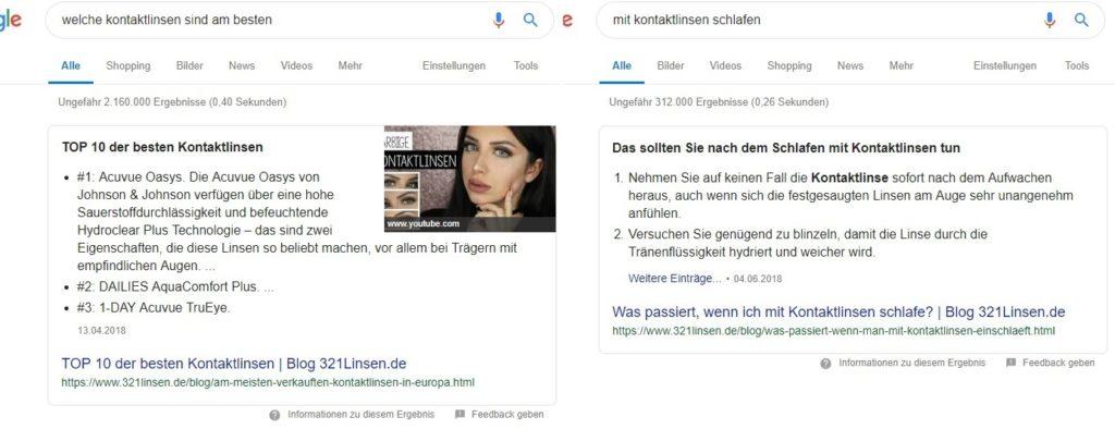 dva featured snippety 321linsen.de