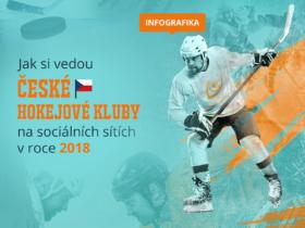 Infografika: Jak si vedou české hokejové kluby na sociálních sítích v roce 2018